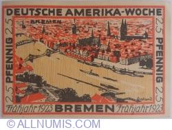 Image #2 of 25 Pfennig 1922 - Deutsche Amerika-Woche Bremen