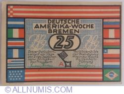 Image #1 of 25 Pfennig 1922 - Deutsche Amerika-Woche Bremen