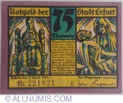 Image #1 of 75 Pfennig 1921 - Erfurt