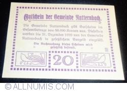 Imaginea #2 a 20 Heller 1920 - Natternbach