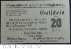 Imaginea #2 a 20 Heller ND - Sankt Johann