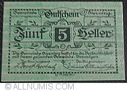 Imaginea #1 a 5 Heller 1920 - Sierning