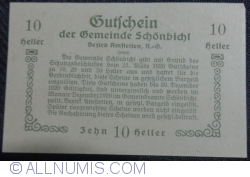 Imaginea #2 a 10 Heller 1920 - Schönbichl