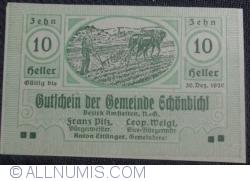 Imaginea #1 a 10 Heller 1920 - Schönbichl