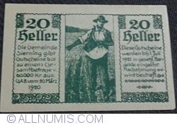 Imaginea #2 a 20 Heller 1920 - Sierning