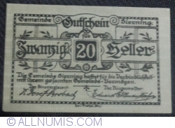 Imaginea #1 a 20 Heller 1920 - Sierning