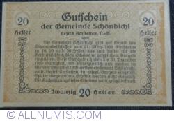 Imaginea #2 a 20 Heller 1920 - Schönbichl