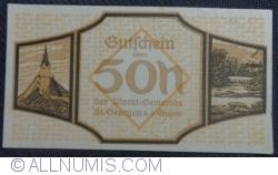 Imaginea #1 a 50 Heller 1920 - Sankt Georgen an der Gusen