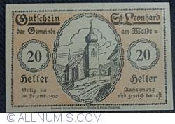 Imaginea #1 a 20 Heller ND - Sankt Leonhard am Walde