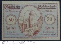 Imaginea #1 a 50 Heller ND - Sankt Leonhard am Walde