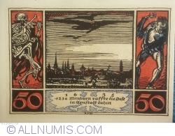 Image #2 of 50 Pfennig 1921 - Arnstadt