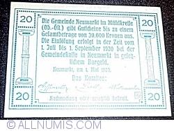 Imaginea #2 a 20 Heller 1920 - Neumarkt im Mühlkreis