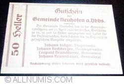 Imaginea #2 a 50 Heller 1920 - Neuhofen an der Ybbs