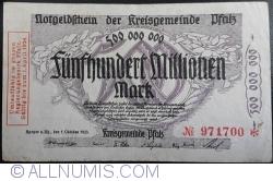Image #1 of 500,000,000 Mark 1923 - Pfalz