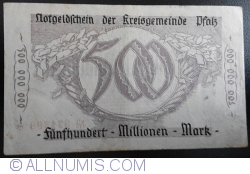 Image #2 of 500,000,000 Mark 1923 - Pfalz