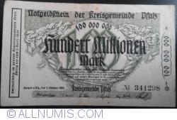 Image #1 of 100,000,000 Mark 1923 - Pfalz