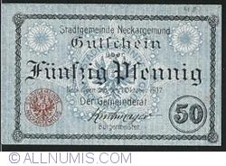 Image #1 of 50 Pfennig 1917 - Neckargemünd