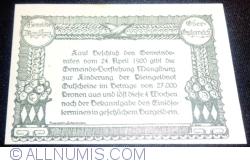 Imaginea #2 a 50 Heller 1920 -  Manglburg