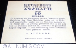 Image #2 of 10 Heller ND - Anzbach (Second Issue - 2. Auflage)