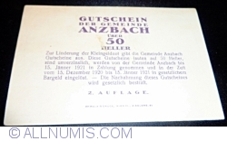Image #2 of 50 Heller ND - Anzbach (Second Issue - 2. Auflage)