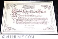 Imaginea #2 a 20 Heller 1920 - Pram