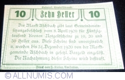 Imaginea #2 a 10 Heller 1920 - Aschbach