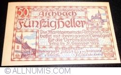 Imaginea #1 a 50 Heller 1920 - Aschbach
