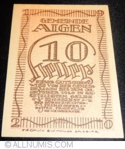 Imaginea #1 a 10 Heller 1920 - Aigen