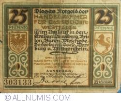 Image #1 of 25 Pfennig 1920 - Westfalia