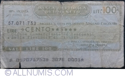 Image #1 of 100 Lire 1976 (29. X.) - Vicenza