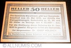 Imaginea #2 a 50 Heller 1920 - Marchtrenk