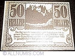 Imaginea #1 a 50 Heller 1919 - Losenstein