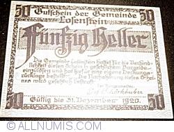 Imaginea #2 a 50 Heller 1919 - Losenstein