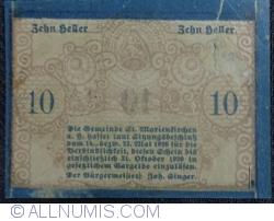 Imaginea #2 a 10 Heller 1920 - Sankt Marienkirchen am Hausruck