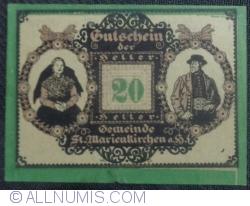 Imaginea #1 a 20 Heller 1920 - Sankt Marienkirchen am Hausruck