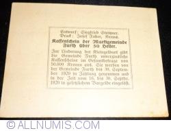 50 Heller 1920 - Furth bei Göttweig