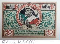 Image #2 of 50 Pfennig 1921 - Rothenburg ob der Tauber