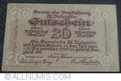 Imaginea #1 a 20 Heller 1920 - Sankt Valentin