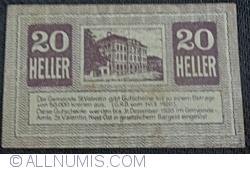 Imaginea #2 a 20 Heller 1920 - Sankt Valentin