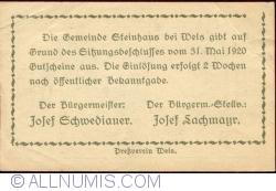 Imaginea #2 a 10 Heller 1920 - Steinhaus bei Wels