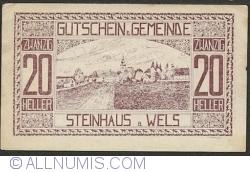 Imaginea #1 a 20 Heller 1920 - Steinhaus bei Wels