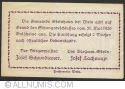 Imaginea #2 a 50 Heller 1920 - Steinhaus bei Wels
