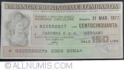 Image #1 of 150 Lire 1977 (31. III.) - Bergamo