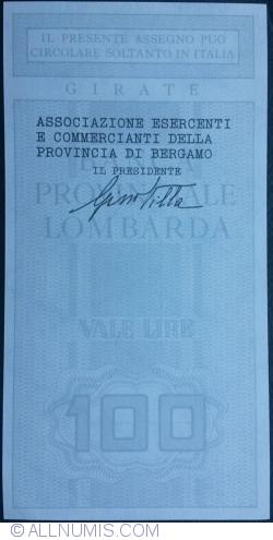 Imaginea #2 a 100 Lire ND - Bergamo