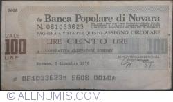 Image #1 of 100 Lire 1976 (3. XII.) - Novara