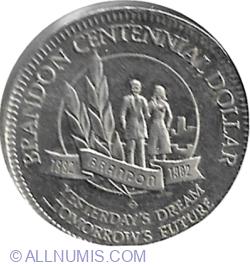 Image #1 of Brandon - 1 Dollar 1982 (Centennial Dollar)
