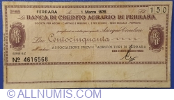 150 Lire 1976 (1. III.) - Ferrara
