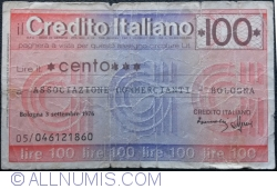 Image #1 of 100 Lire 1976 (3. IX.) - Bologna
