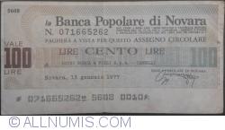 Image #1 of 100 Lire 1977 (13. I.) - Novara