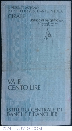 Imaginea #2 a 100 Lire 1977 (17. III.) - Milano
